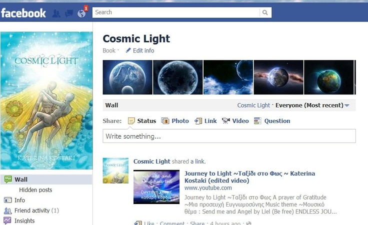 Cosmic Light on Facebook  http://www.facebook.com/Academyofinnerlight