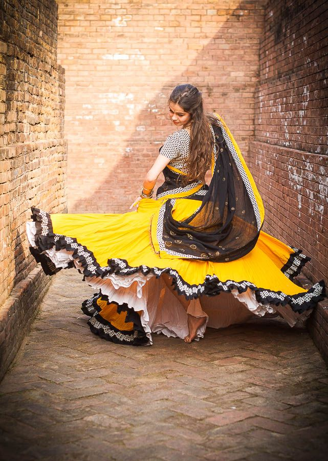 Polka Dot Collection - Bumble Bee - Gopi Skirts | Gopi Skirts