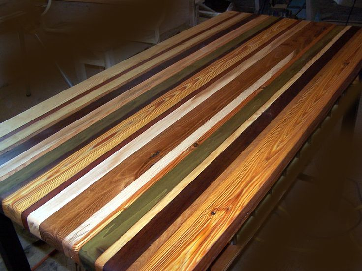 Custom Reclaimed Wood Countertops for 75 dollars a sq ft