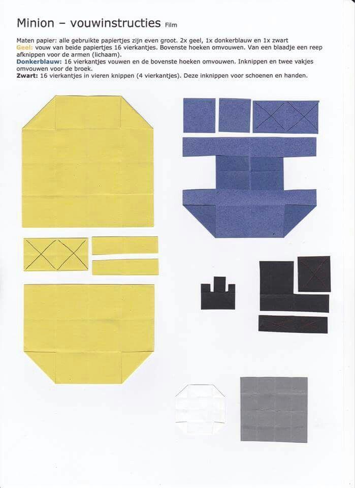 Minion- vouwinstructies
