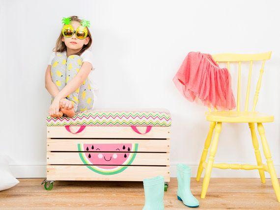 Coffre à jouets personnalisé coffre à jouets chambre par NOBOBOBO