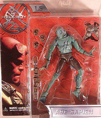 Hellboy 1.5 Movie Figure Battle Damaged Abe Sapien Mezco 2004