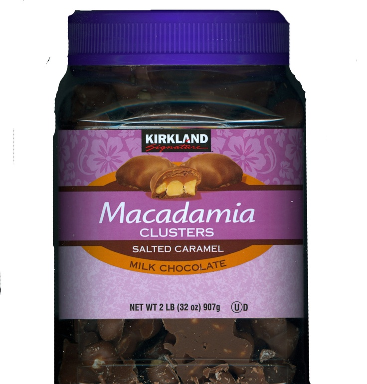 One of my FAVORITE Saturday treats...still can't believe how GOOD these are!  Kirkland Costco Macadamia Clusters with salted caramel  milk chocolate.   Drooool...