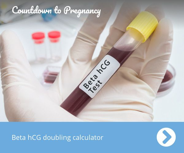 Calculate the doubling time of two beta hCG test results by entering