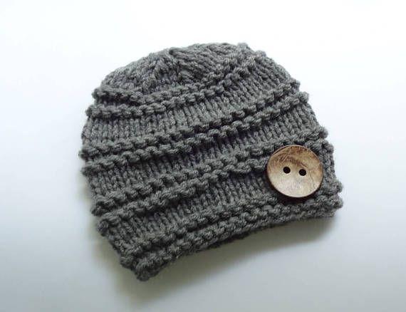 Knit Baby Hat  Baby Boy Winter Hat Newborn Hat Baby Hat Boy