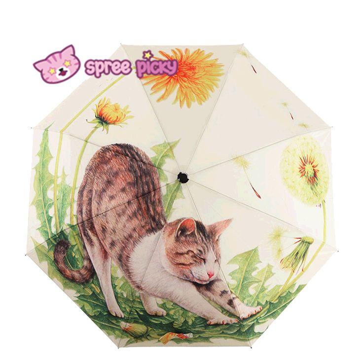 Daisy Kitty Sun-Rain 3 Fold Umbrella SP153343 - SpreePicky  - 1
