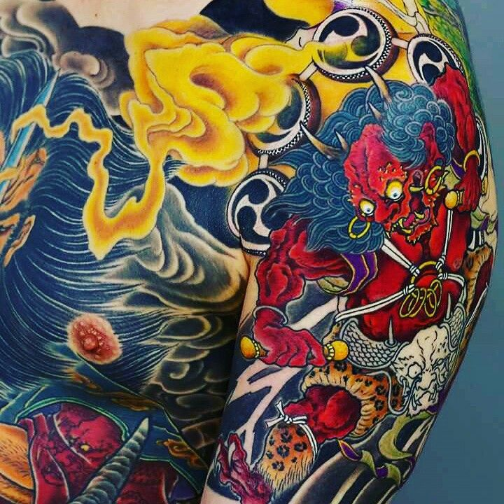 Top Free Oni Irezumi Backgrounds: 131 Best Images About Raijin And Fujin On Pinterest