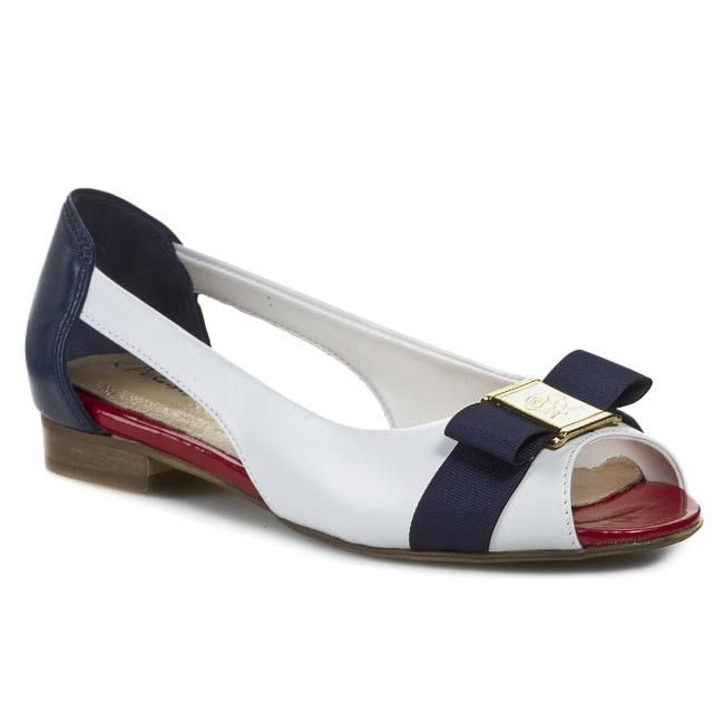 Sandále R.POLAŃSKI - 0675 Biela Modrá