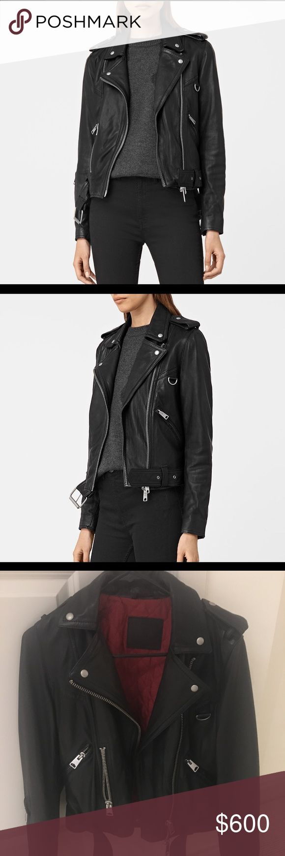 AllSaints Gidley Leather Biker Jacket Sz. US 6! SOLD OUT EVERYWHERE! ONLY LISTING ONCE! Get it while you can! Only worn twice. Basically new. Originally $650. Make your offers! ONLY SELLING THROUGH 🅿️🅿️. Please message me if interested:-) All Saints Jackets & Coats