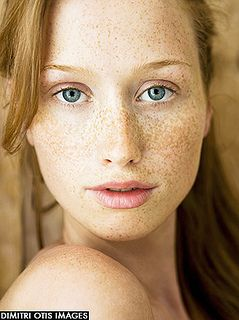 Natural beauty portrait of young model with freckles, close-up. http://www.dimitri.co.uk/beauty.html by Dimitri Otis, via Flickr