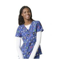 6217 WonderWink Wuff Waggin Women's Printed Scrub Top