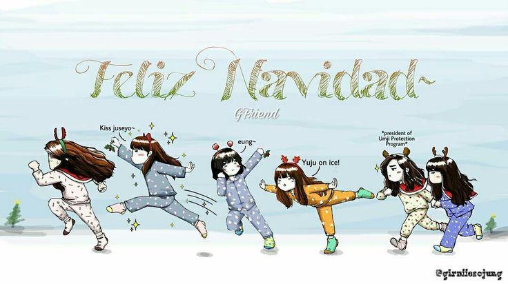 Merry Christmas everyonee  #GFriend #yeojachingu #sowon #yerin #eunha #yuju #sinb #umji #fanarts.