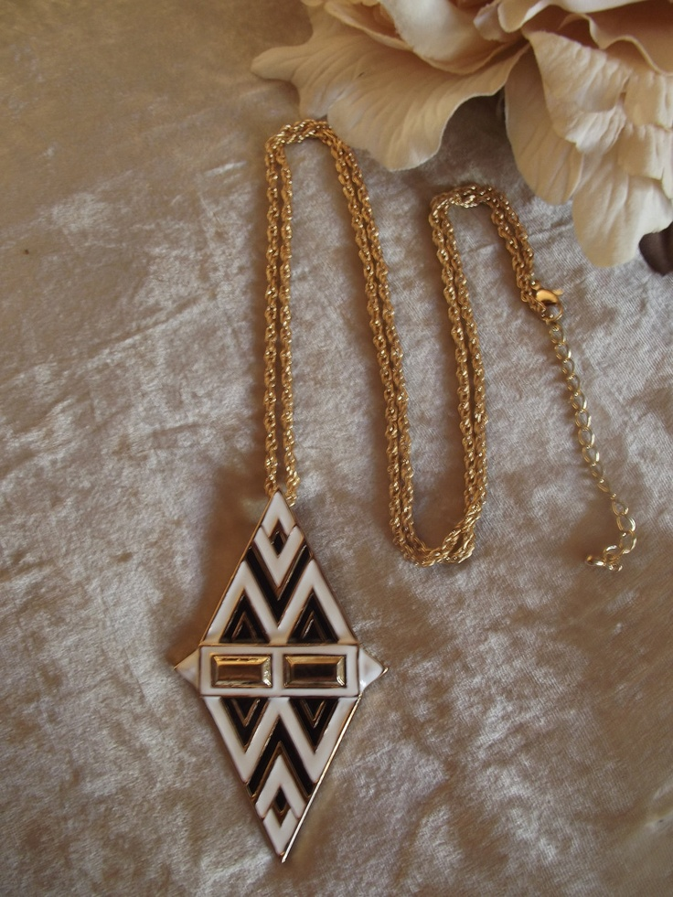HOUSE OF HARLOW Inspired Black White & Gold Aztec by BeaBoutiqueUK, £7.00
