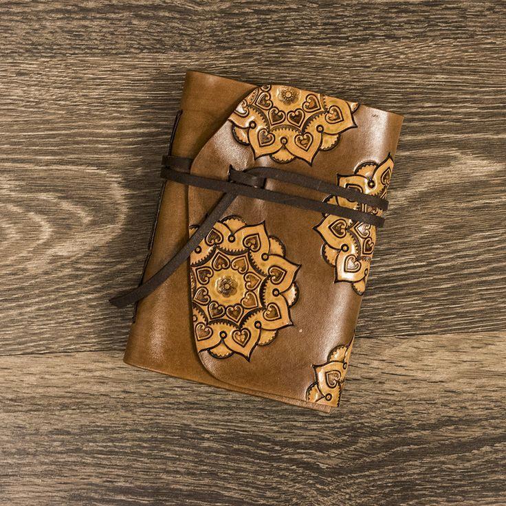 Realeather Leather Mandala Designs 1.  DIY Leather Tooling Pattern and Mandala Design Idea. www.realeather.com C4182 Leather Journal Kit.  C4149 Leather Key Fob Kit. C4162 Leather Flip Coin Purse.