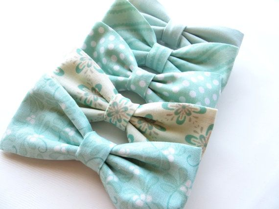 Mint Groomsmen Bow Tie Mix And Match by TangledTiesBowTies on Etsy