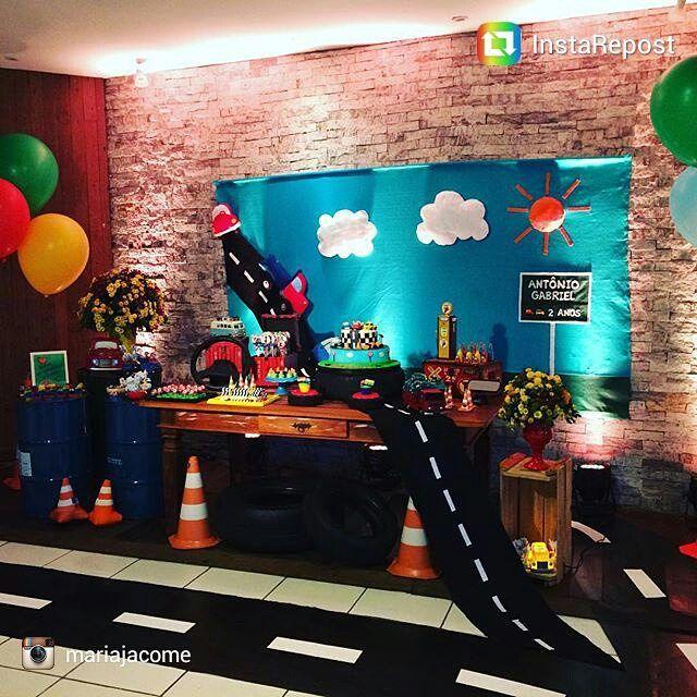 Tapetes de decoração festa cars