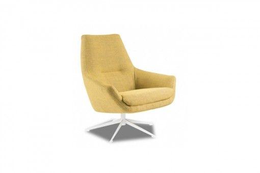 KUBIC - draaifauteuil een heerlijk zitstoel - #interior #yellow #design #deruijtermeubel