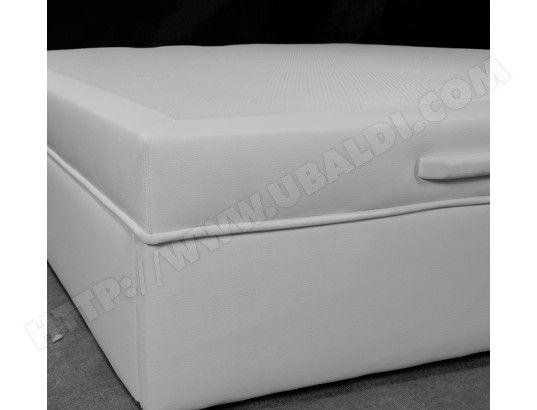 Sommier 140 x 190 UB DESIGN Lit coffre Léo 140x190 blanc