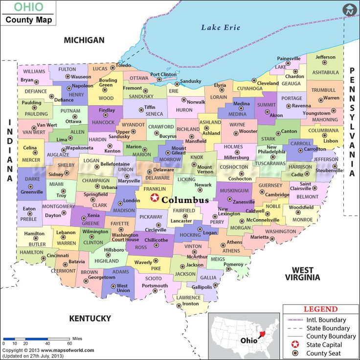 Ohio County Map good to have for future reference