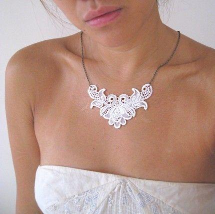 Lace Necklace DIY