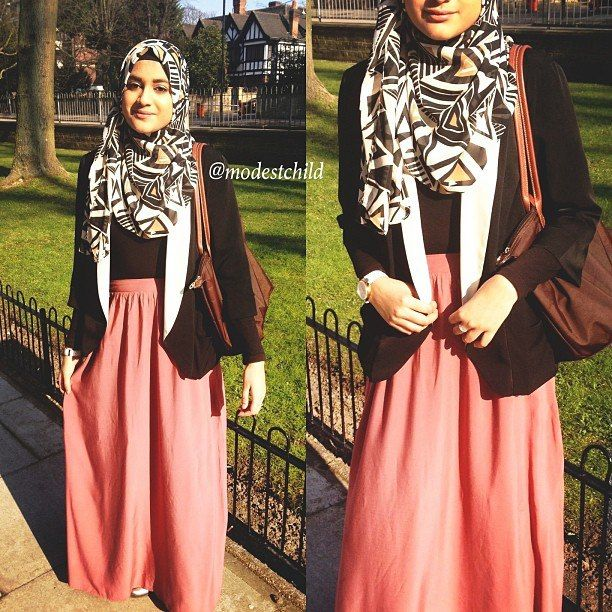 Simple hijab style great for travelling!!