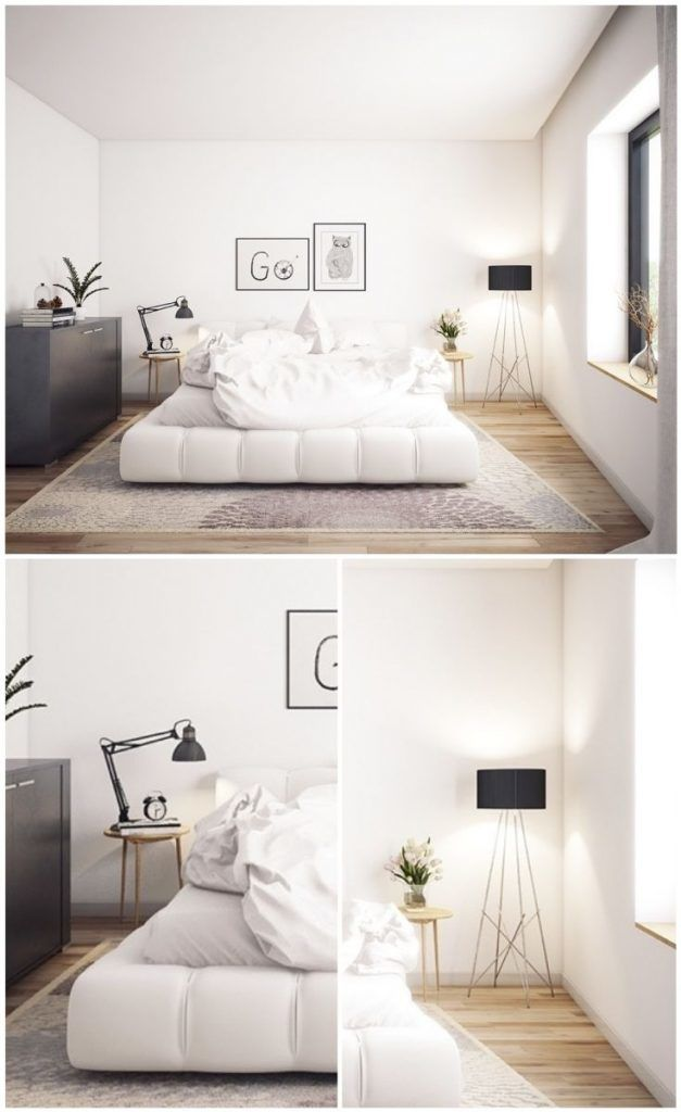 22 Surious Examples How Lighting Lamps Change White Bedrooms Floor Lamp Bedroom Bedroom Flooring Stylish Bedroom #stand #up #lights #for #living #room