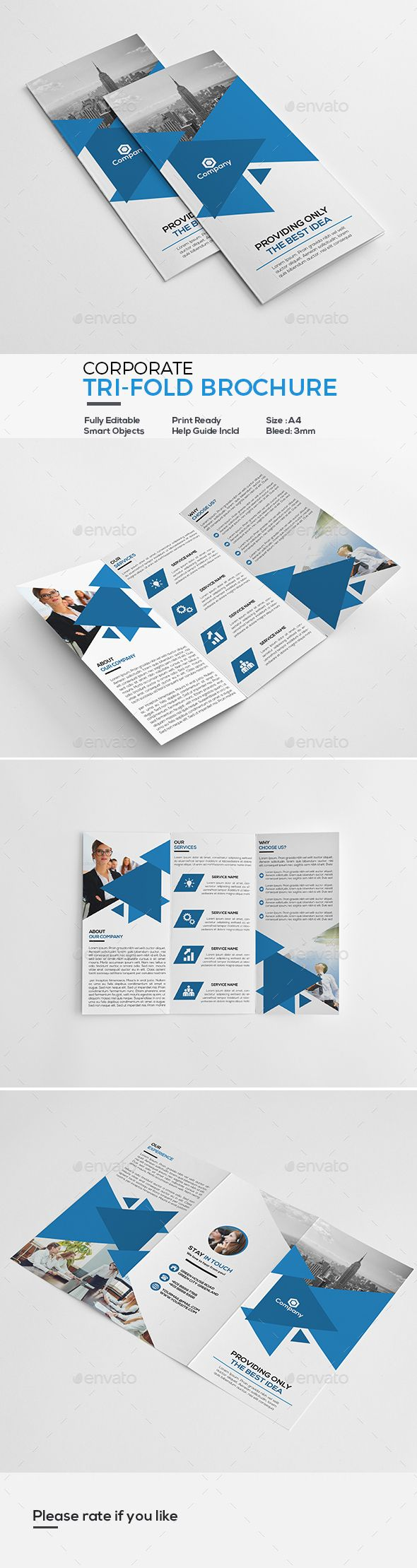 how to make a 3 page brochure in word