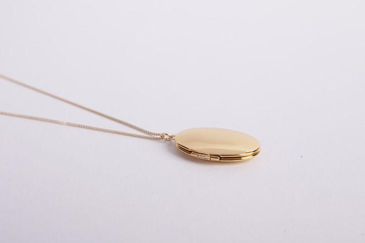 Ketten lang - Goldkette mit Medaillon zum Öffnen ● Gold XL● - ein Designerstück von meineketten bei DaWanda