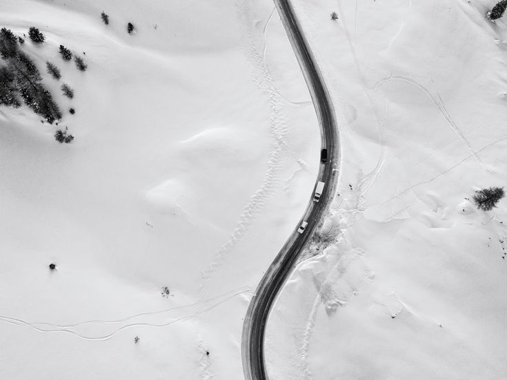 Left and right - Air photo of passo sella