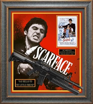 SCARFACE Cast Signed Movie Collage Display.