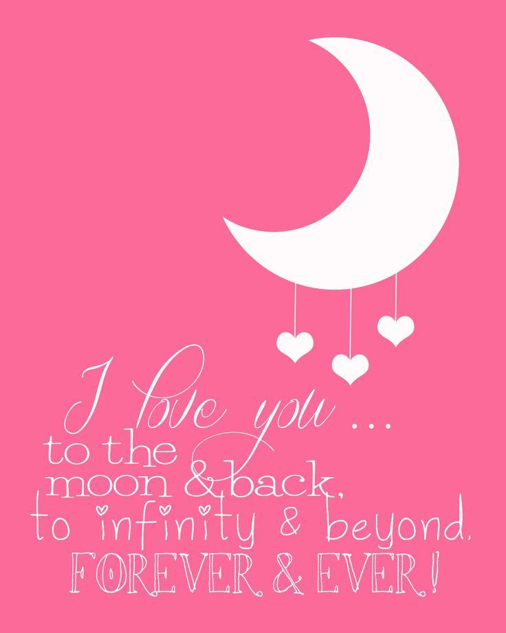 Funky Polkadot Giraffe: I Love You to the Moon and Back!