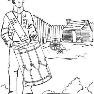 9 best Coloring Pages/LineArt Revolutionary War images on ...