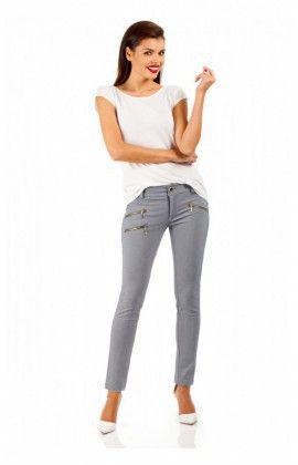 Pantalon Elegance spodnie MOE046 Navy . Moe . 23528