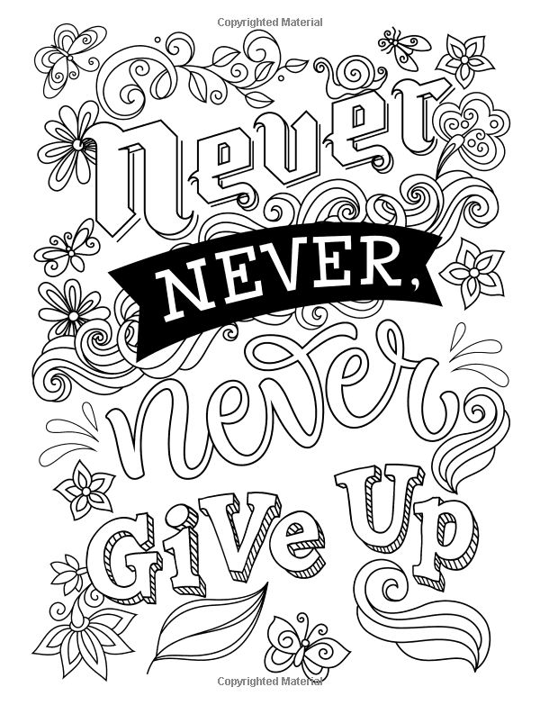 Amazon.com: Adult Coloring Books Good vibes: Don't give up