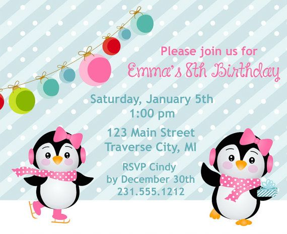 Best Kids Birthday Party Invitations Images On Pinterest - Invitation birthday party girl