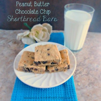Peanut Butter Chocolate Chip Shortbread Bars Taste of peanut butter ...