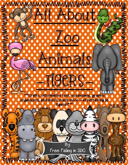 All About Zoo Animals-TIGERS! (crafts, informative text, vocab, & much more!) from h2ogoaliegirl from h2ogoaliegirl on TeachersNotebook.com (24 pages)  - Super cute addition to any unit pertaining to tigers, wild or zoo animals. Crafts, informative text, writing activities, vocabulary and much more all pertaining to TIGERS!