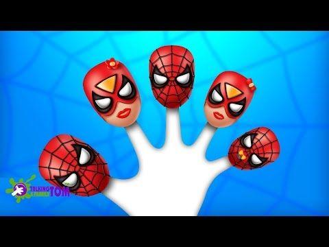 Spiderman Lollipop Finger Family Songs | Top 10 Finger Family Collection - Vidinterest
