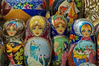 The Matryoshka , or nested doll, originated in Moscow over 100 years ago, and remains an endearing symbol of Russian culture.