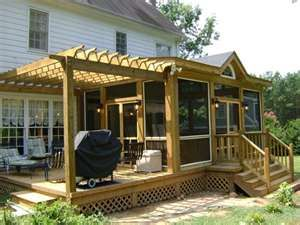 screen in porch and keep lower deck? Like the door leading out in to the yard from room.