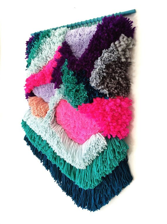Furry Lanscape n. 2 / Handwoven Tapestry by jujujust, on Etsy