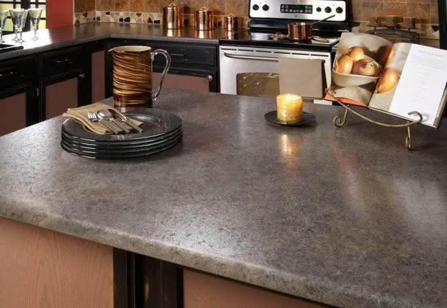 Wilsonart Pearl Soapstone laminate countertop.
