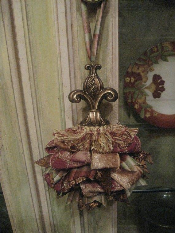 Elegant Fleur de lis Tassel by kristenscreations on Etsy