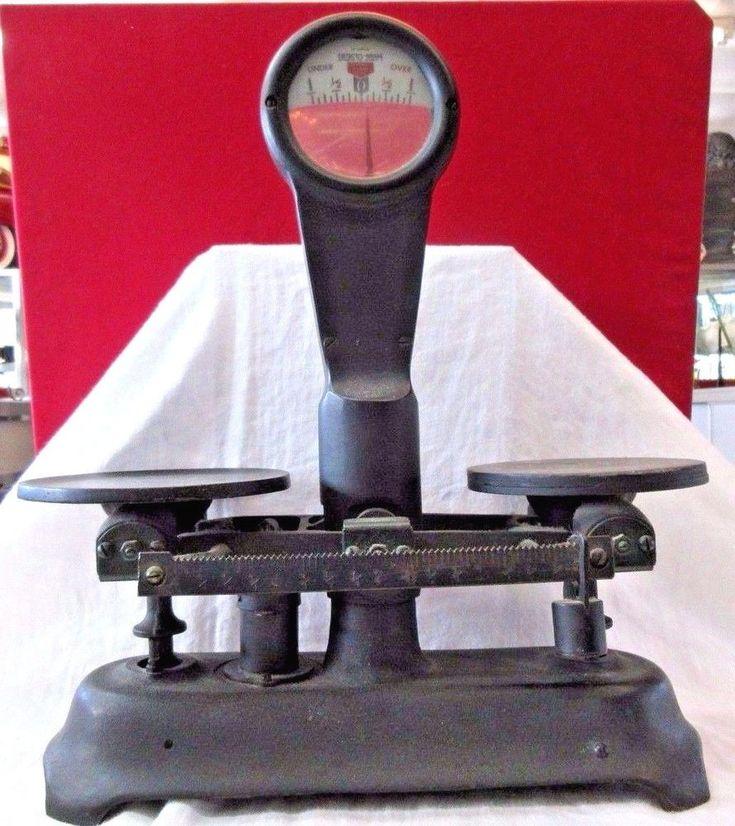 Antique DETECTO-GRAM SCALE - Black -  5 D Series #DetectoScale