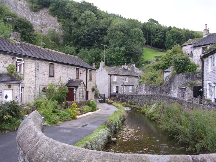Castleton, Derbyshire  The book is set in a fictitious village based on the goregous Castleton in the Derbyshire Peak District.