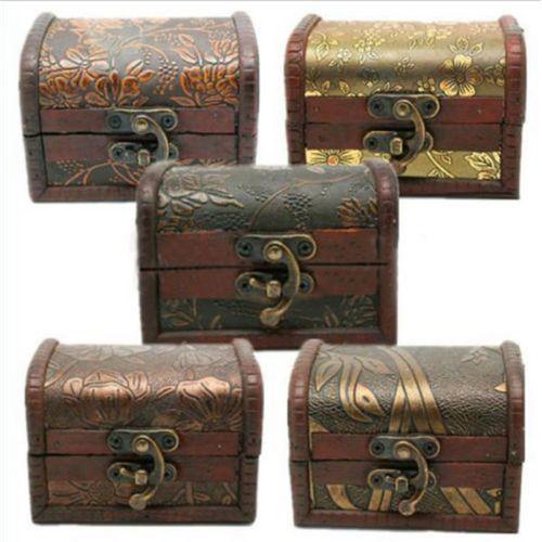 Vintage-Jewelry-Pearl-Necklace-Bracelet-Storage-Organizer-Wooden-Case-Gift-Box