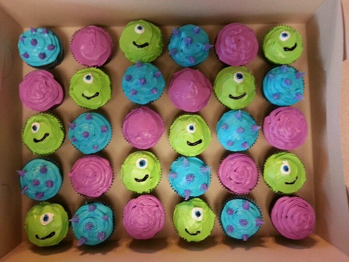 Monsters Inc Cupcakes Mike Wizowski Colors For Sully