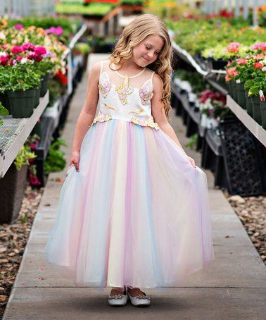1c1122256 This Rainbow Tulle Unicorn Dress - Toddler   Girls is perfect ...