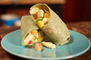 MIRACLE WHIP Mango-Chicken Salad Wraps
