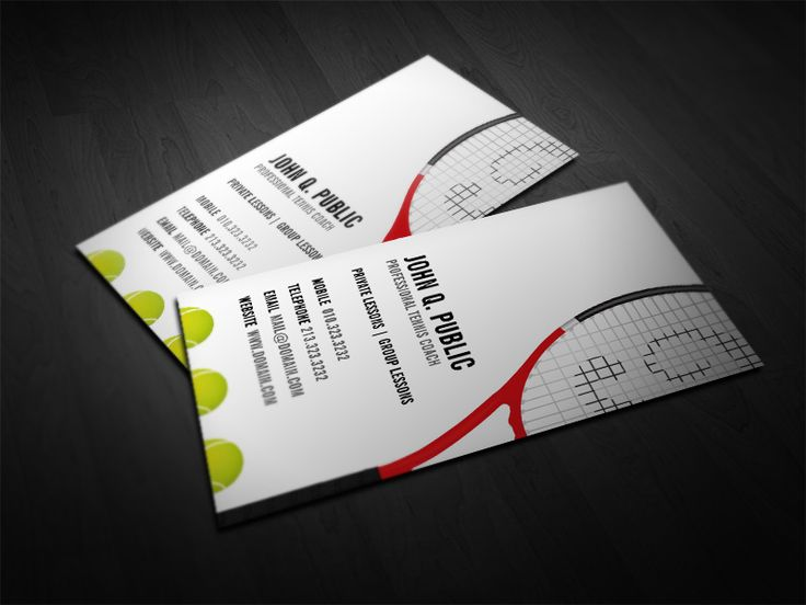 Great Tennis Themed Business Card Design Idea (Source: Http://j32design.